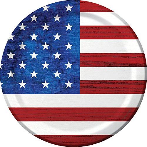 Patriotism 9u0022 Paper Plates - 8ct