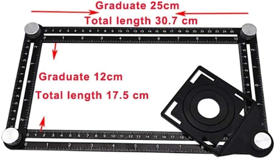 N\A Indicatore Angolo Hole Locator 6 Pieghevole Multipla Drill Angle Ruler Guida Aperture Locator Regolabile Ceramic Tile spedizione Gratuita