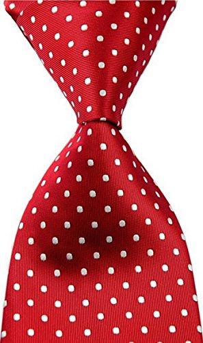 Best Collection New Classic Polka Dot Jacquard Woven Silk Men's Tie Necktie (New Silk Mens Necktie Tie)