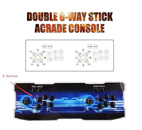 SeeKool 3D Pandora X Arcade Game Console, 1920x1080 Full HD 4 Players Max Arcade Machine 2200 Retro Games, Support Extended TF Card& USB Disk to Enjoy More Games PC / Laptop / TV / PS4 (KOF) by SeeKool (Image #8)