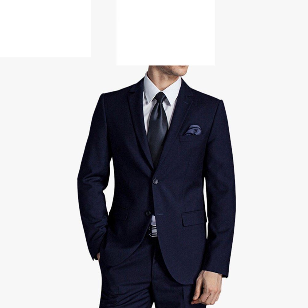 577Loby Men Business Suit Slim Fit Classic Male Suits Blazers Suit Two Buttons 2 Pieces(Suit Jacket+Pants) by 577Loby (Image #3)