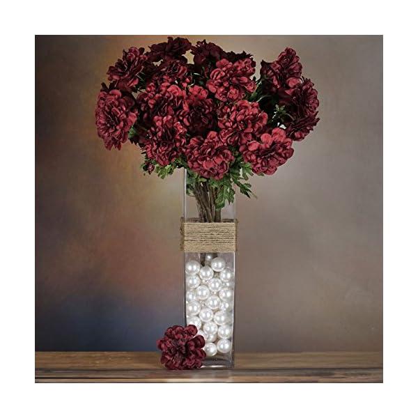 Tableclothsfactory-4-Bushes-California-Zinnia-Artificial-Wedding-Craft-Flowers-Burgundy