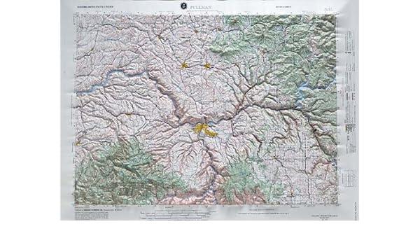 Pullman Washington Raised Relief Map Nl 11 5 Hubbard Scientific
