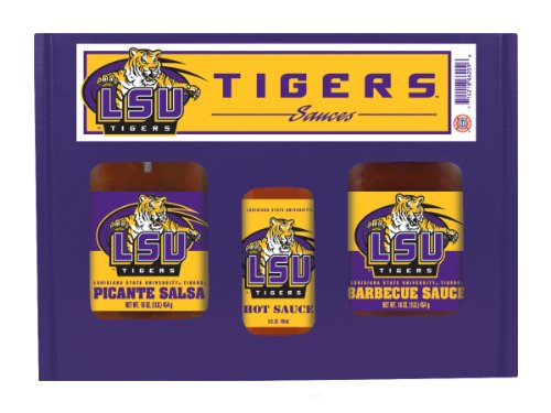 Tigers Ncaa Barbecue Sauce (Hot Sauce Harrys 6209 LSU - Louisiana St Univ -Tigers TailGate Hot Sauce BBQ Salsa)