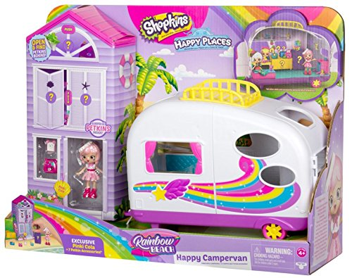 Shopkins Happy Places Rainbow Beach Camper Van by Shopkins (Image #1)