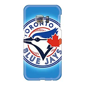 Great Hard Phone Cases For Samsung Galaxy S6 (MLW8373hfWo) Customized Attractive Toronto Blue Jays Pattern