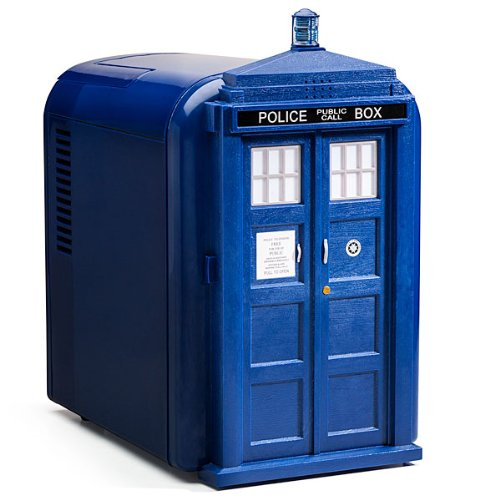 Doctor Who Blue Mini Tardis Fridge - Great Office Refrigerator or Even Car