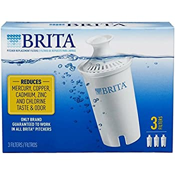 Brita SYNCHKG062447 Water Pitcher Replacement Filters, White 3 ea(Pack of 2), 6 Pack
