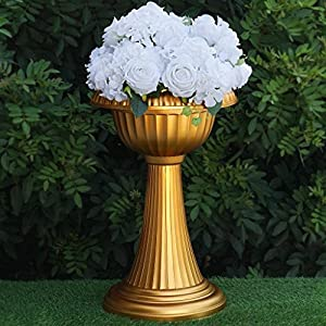 "BalsaCircle 4 pcs 23"" Tall Gold Vases for Wedding Party Flowers Centerpieces Home Decorations Bulk Supplies 109"