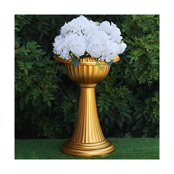 BalsaCircle-4-pcs-23-Tall-Gold-Vases-for-Wedding-Party-Flowers-Centerpieces-Home-Decorations-Bulk-Supplies