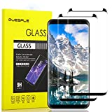 QUESPLE Galaxy S8 Screen Protector [2 Pack], [9H Hardness][Anti-Scratch][Anti-Bubble][3D Curved] [High Definition] [Ultra Clear] Tempered Glass Screen Protector Film for Samsung Galaxy S8