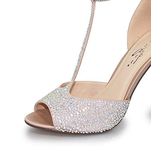Womens T Bar Lunar Nude Ruth Court Shoe H7qddwvxF