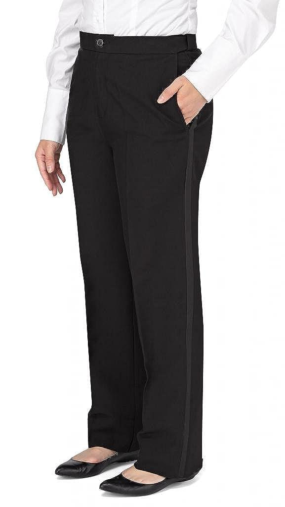 Kyle Thomas Women's Polyester Plain Front Tuxedo Pant 6504W