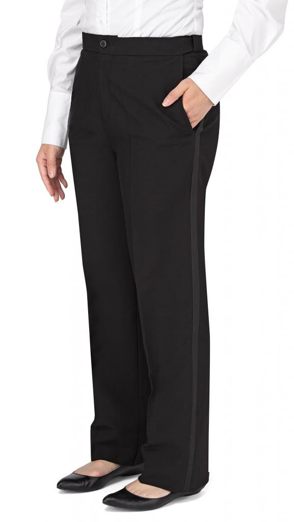 Kyle Thomas Women's Polyester Plain Front Tuxedo Pant, Black 18
