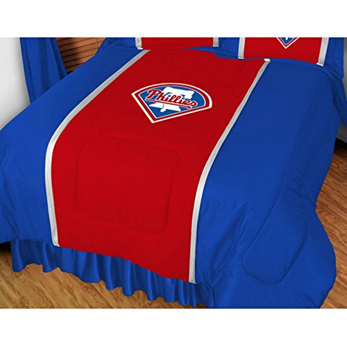 Comforter Collection Twin Sidelines - Sports Coverage 03JSCOM3PHITWIN MLB Philadelphia Phillies Twin Sidelines Bedding