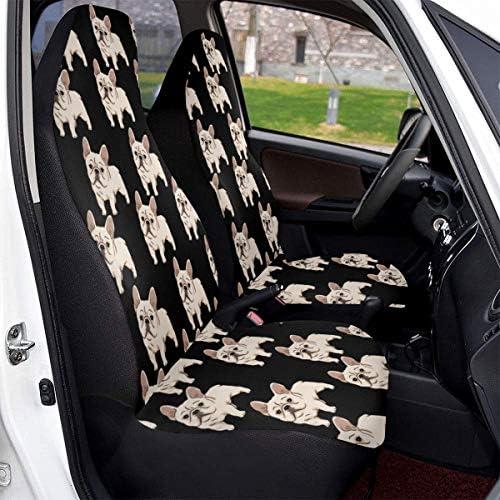 Faacseat Housses de si/ège de voiture bouledogue fran/çais pour la plupart des voitures compatibles avec Hyundai Elantra Sonata Tucson Accent Mazda6 CX5