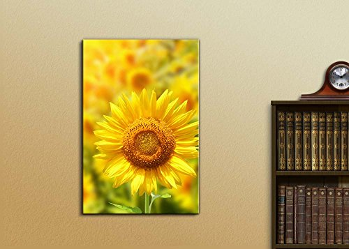 Yellow Sunflowers and Bright Sun Wall Decor
