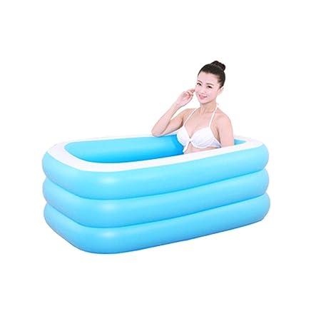 LYM & bañera Plegable Bañera Caliente Gruesa Inflable ...