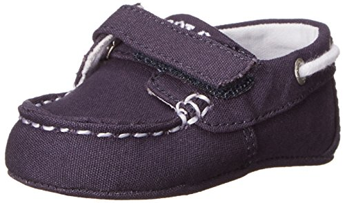 Ralph Lauren Layette Sander EZ Boat Shoe with Velcro (Infant/Toddler), Navy, 0 M US Infant