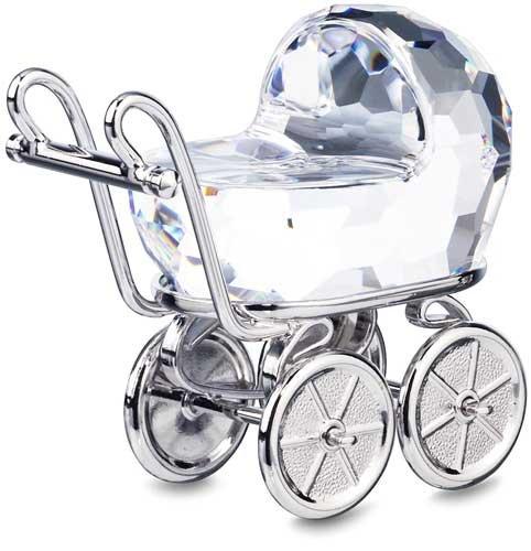 Swarovski Crystal Baby Pram - 7