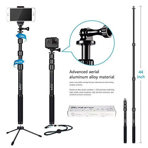 hsu waterproof selfie stick pole for gopro hero 5 session 5 hero 4 3 3 2 iphone samsung. Black Bedroom Furniture Sets. Home Design Ideas