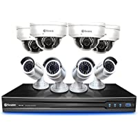 Swann CONV8-C3MPB4D4-CA 8 Channel 3MP Security Kit NVR Network Video Recorder with 2TB HDD & 4x 3MP Security Bullet Camera & 4x Surveillance Dome Cameras