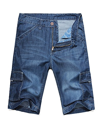 OCHENTA Summer Cargo Pockets Shorts product image