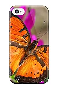 Shock-dirt Proof London Butterfly House Case Cover For Iphone 4/4s