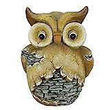 Northlight 17.5″ Rustic Brown and Gray Stone-Look Owl Spring Outdoor Patio Garden Statue