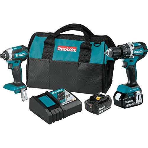 Makita XT269T 18V LXT Lithium-Ion Brushless Cordless 2-Pc. Combo Kit (5.0Ah) ()