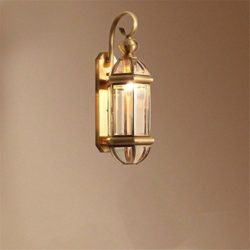 Brass Sconce Porcelain (Industrial Vintage Wall Sconces A Brass Wall Lights Outdoor Waterproof Retro Patio with Exterior corridors, Stairs Wall lamp)