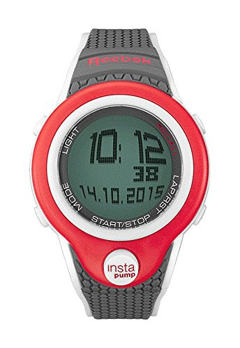70e836ee640 Reebok Pump InstaPump Digital Men s Chrono Watch Gray White and Red  RC-PIP-G9-PRPA-WB  Amazon.co.uk  Watches