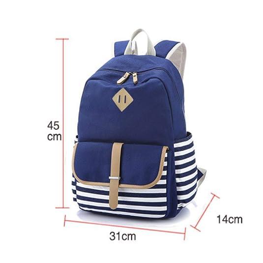 Amazon.com: Double Shoulder Bag Striped College Wind Travel bag Computer bag Travel bag Student bag: Shoes