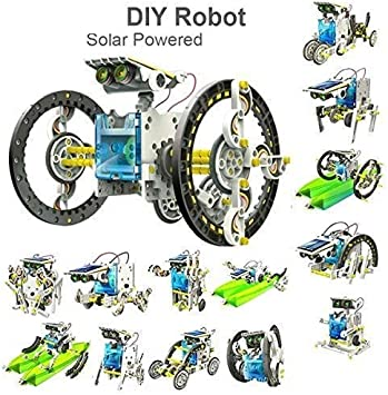 VKemporium Babytintin Educational 13 in 1 Solar Power Energy Robot Toy Science School Learning Purpose Projects Kit for Kids (Multicolour)