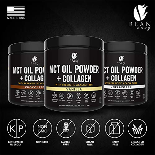 MCT Oil Powder + Collagen + Prebiotic Acacia Fiber - 100% Pure MCT's - Perfect for Keto - Energy Boost - Nutrient Absorption - Healthy Gut Support - Vanilla by Bean Envy (Image #7)