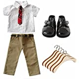 FARVISION GIRL 18 inch Boy Doll Clothes Accessory set,Boy Doll School Uniform with Dolls Clothes Hangers Outfits for 18 inch American Boy Doll Logan or other 18'' Doll