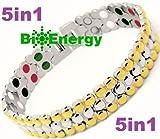 Titanium Magnetic Energy Germanium Armband Power Bracelet Health Bio 5in1 Bio 304