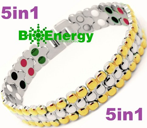 Titanium Magnetic Energy Germanium Armband Power Bracelet Health Bio 5in1 Bio 304 by BioEnergy International