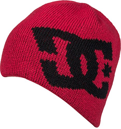 DC Men's Wane 17 Beanie, Racing Red, One Size (Beanie Hat Dc)