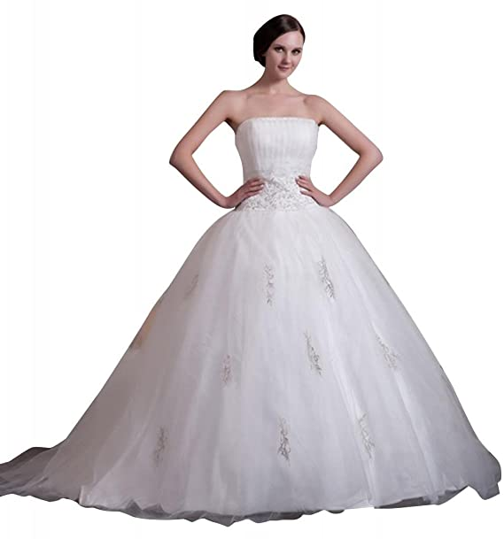 George Bride nuevo traegerlose bordado perlas Ball - Vestido de novia Vestidos de novia Vestidos de Boda: Amazon.es: Ropa y accesorios