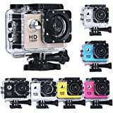 1080P Action Sports Camera -Self Timer,Tuscom Waterproof ( 30 Meters Under Water) Action Camera (1.5 Inch Ultra HD Screen)Camcorder HD 1080P Mini DV Cam (Gold)