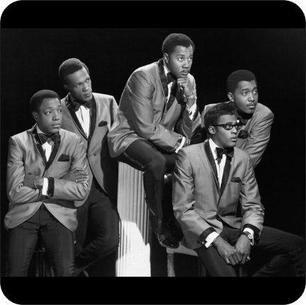 4コースターのセットのコルクBacking The Temptations Motown Era   B07FP8YVTV