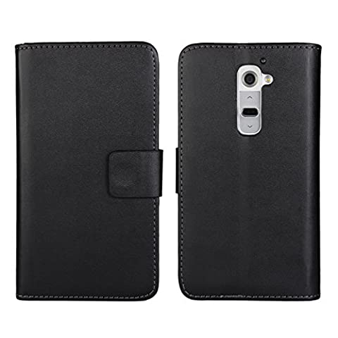 LG G2 Case [iCoverCase] PU Leather Wallet Case [Card Slot] Folded Magnetic Clip [Book Fold] Kickstand Cover for LG G2 ( D800,D802,D801,D802TA,D803,VS980,LS980 ) (Lg G2 Phone Case Magnetic)