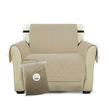PETCUTE Lujo Cubre para Silla Fundas de Sofa Protector de sofá o sillón, Dos o Tres plazas Beige