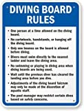 Diving Board Rules Sign, 30'' x 24''
