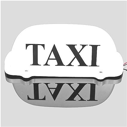 Señal luminosa para parte superior de taxi LED, para techo de taxi, 12 V, con base magnética, luz de color blanco