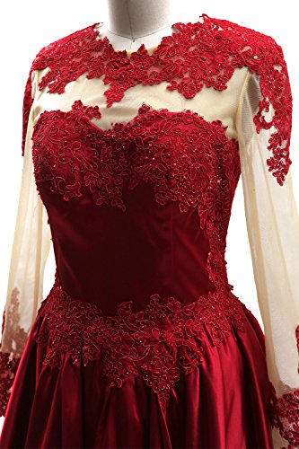 Short Sleeves Party Gown Dress MACloth Dunkelmarine Homecoming Prom Lace Long Formal Illusion qtx5wOUnSp