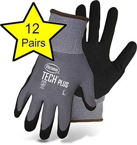 Boss 7830L Large Gray Boss Tech Premium Gloves - 1 Dozen Pair