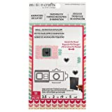 American Crafts 346514 Uchi Designs Animation Motion Crafts Small Envelopes 11 Piece Cards, Black