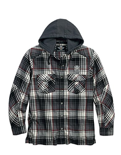 Harley-Davidson Hooded Plaid Shirt Jacket 96053-16VM Herren Shirt